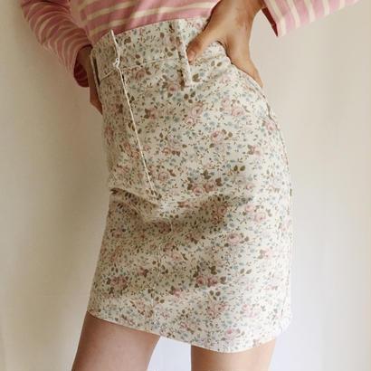 USA flower print mini skirt