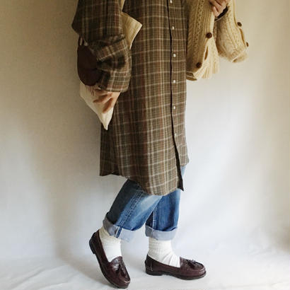 Euro Vintage Plaid Flannel Long Shirt