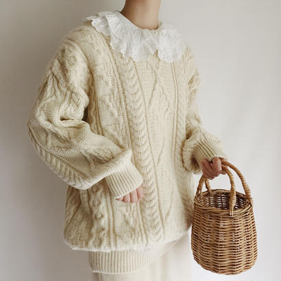 80's Irish Cable Knit Sweater