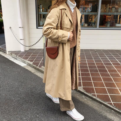 70's Euro Vintage Hooded Long Coat