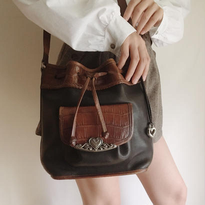 USA  leather  shoulder bag
