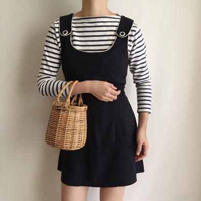 French Vintage Bi-Color Mini Dress