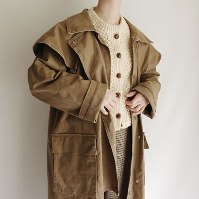 80's USA Heavy Weight Cotton Duster Coat