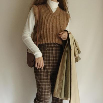Euro Vintage Brown Knit Vest