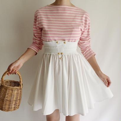 Euro Vintage High  Waist Circular  Skirt