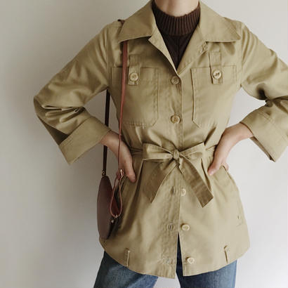 Euro Vintage Light Khaki Safari Jacket