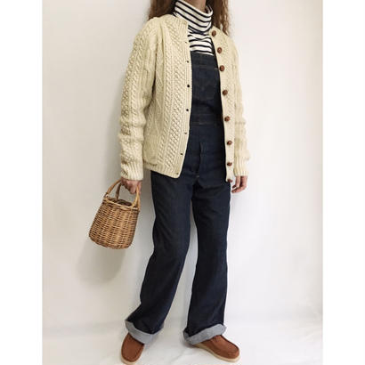 50's - 60's Irish Cable Knit Cardigan