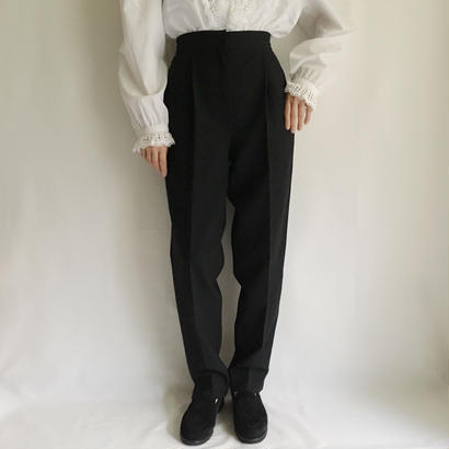 Euro  Vintage Black center press pants