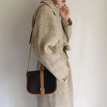 UK wool herringbone long coat