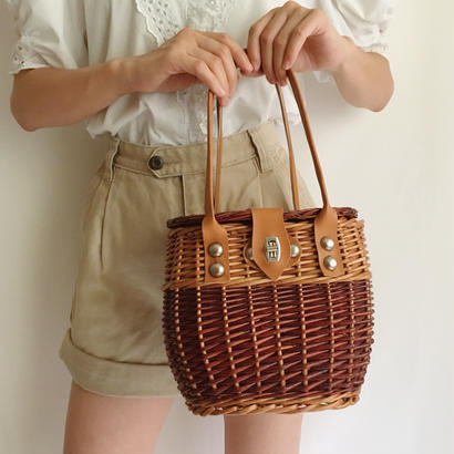 Euro Vintage Two Tone Basket Bag