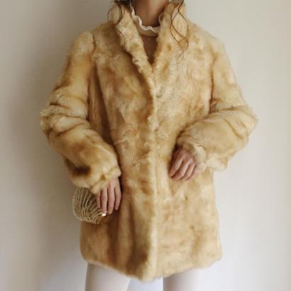 70's eurovintage  A line fur coat