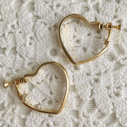 【gold】heart motif earring
