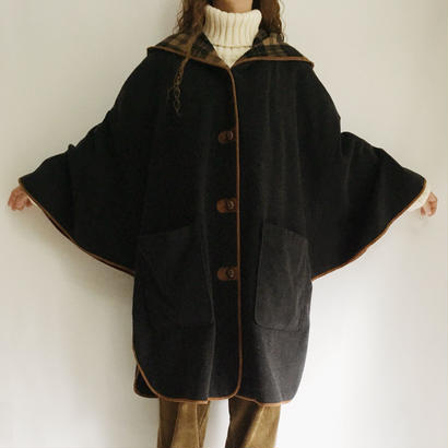 Euro Vintage Big Hooded Wide Coat
