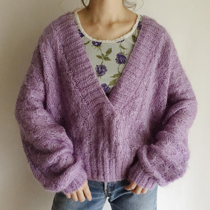 eurovintage lavender color knit sweater