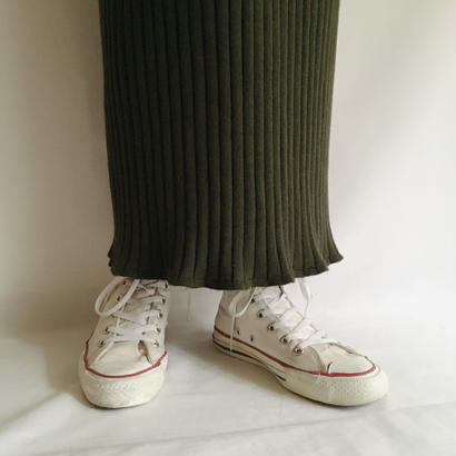 Euro Vintage Rib Long Knit Skirt