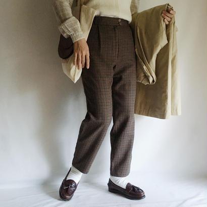 Euro Vintage  Gun Club Check Wool Pants