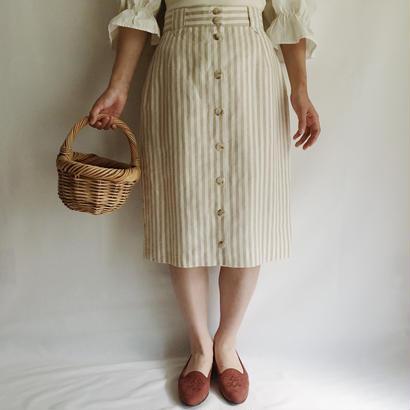 Euro Vintage Stripe Semi Tight Skirt