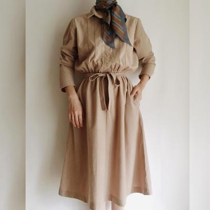 eurovintage beige flare dress