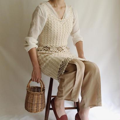 Euro Vintage Crochet Knit Dress