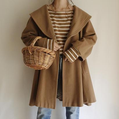 60's eurovintage shawl collar A line coat