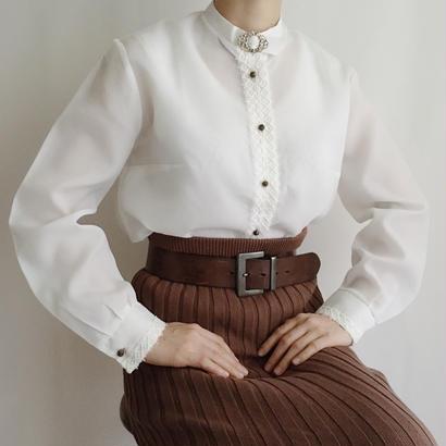 Euro Vintage lace design blouse