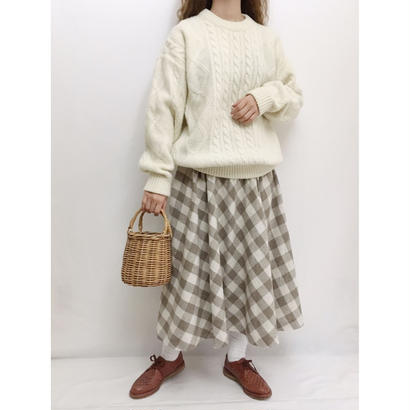Euro Vintage Shetland Wool Cable Knit Sweater
