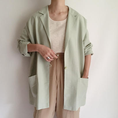 Euro Vintage Pale Green Over Silhouette Jacket