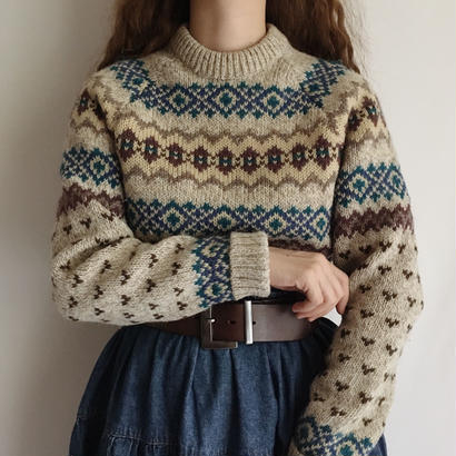 """Wool Rich "" Fair Isle Knit Sweater"