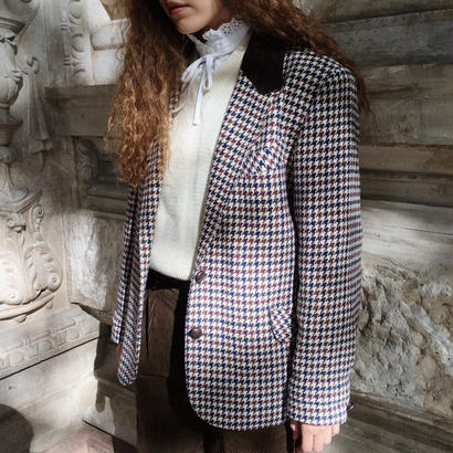 U.K. Vintage Houndstooth Wool Jacket