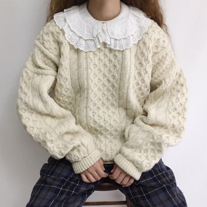 Irish Over Silhouette Cable Knit Sweater