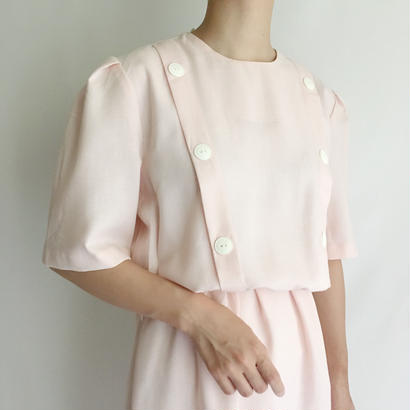 USA Baby Pink Roundneck Flare Dress