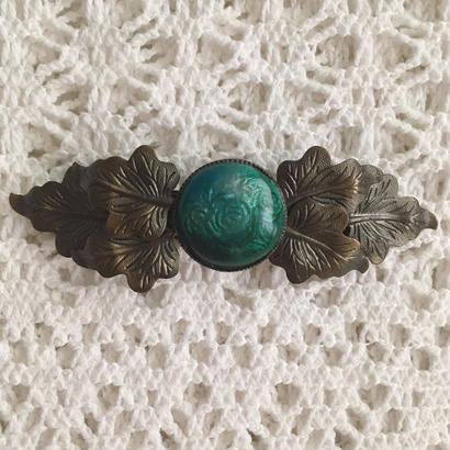 leaf motif vintage hair barrette
