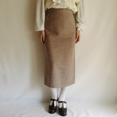 Euro Vintage Semi Tight Midi Skirt