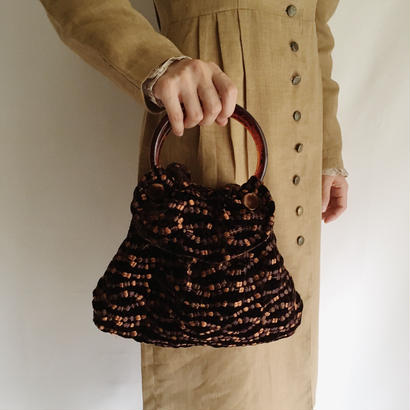 UK Vintage Velours Ring Hand Bag