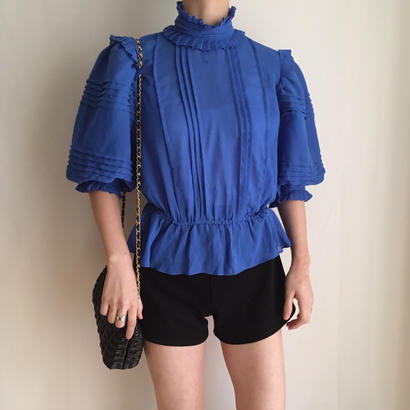 80's volume design chiffonblouse