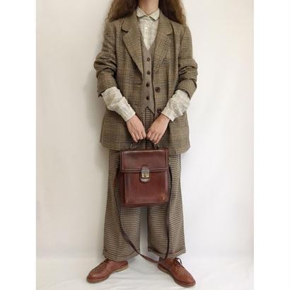 Euro Vintage Brown Check Jacket