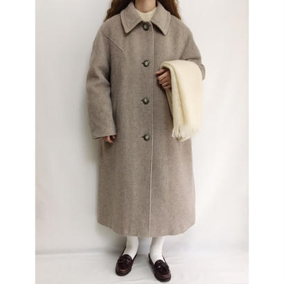 Euro Vintage Gray Beige Aline Long Coat