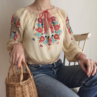 hungarian hand embroidered blouse