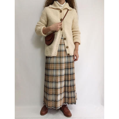 Euro Vintage Big Collar Knit Cardigan