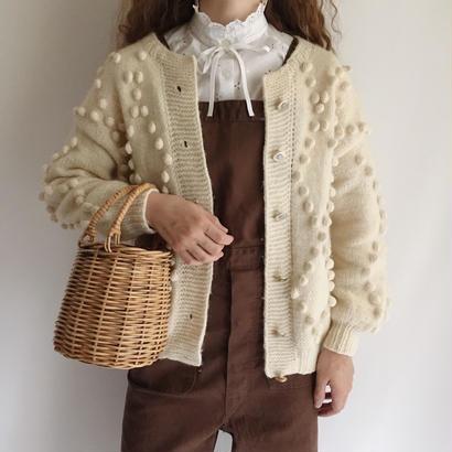 Euro Vintage Popcorn Hand Knit Cardigan