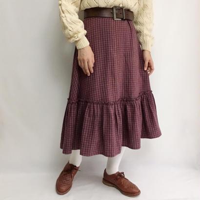 Euro Vintage Tiared Flare Skirt