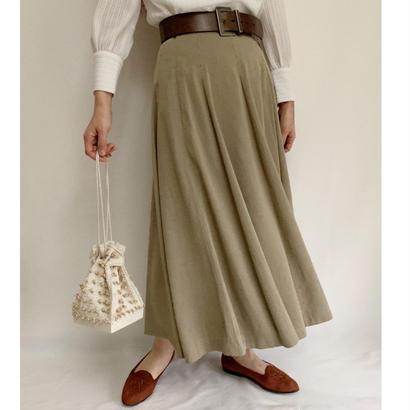 Euro Vintage Pin Striped Flare Skirt
