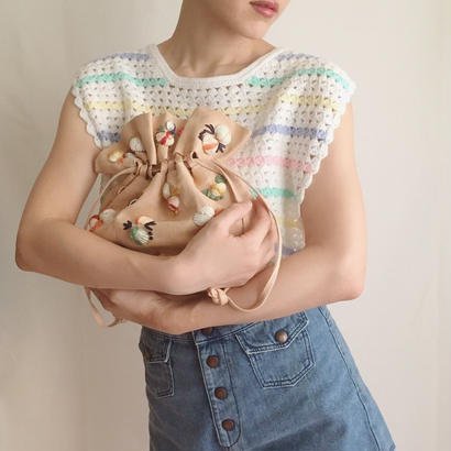 pastel color mulch border knit tops