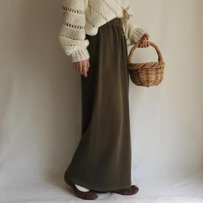eurovintage knit long skirt