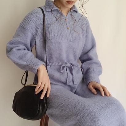 eurovintage lavender color knit long dress