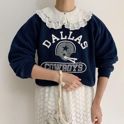 80's USA NFL Print Sweat Shirt