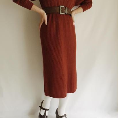 Euro Vintage Rib Long Knit Dress