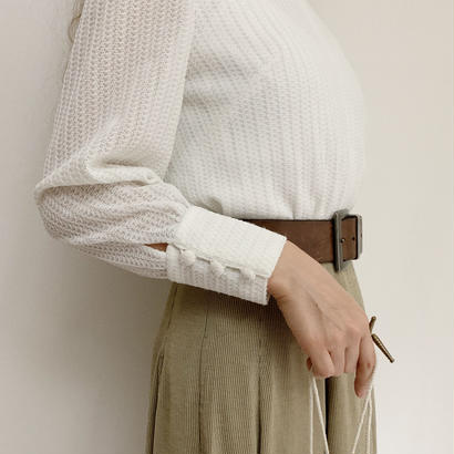 70's Euro  Vintage Stand collar Blouse
