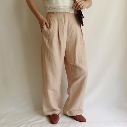Euro Vintage Linen Wide Pants