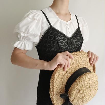 Euro Vintage Black Lace Slip Dress